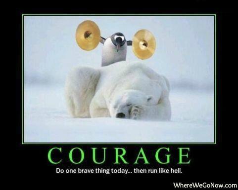 Courage Button